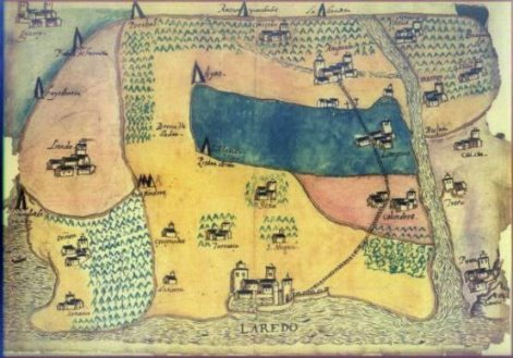 Laredo en mapa de medieval de Cantabria