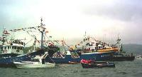 Procesión marítima por la bahía de Laredo